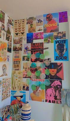 Home Decor Habitacion .Home Decor Habitacion Cute Room Ideas, Cute Room Decor, Indie Room Decor, Hipster Bedroom Decor, Boho Decor, Collage Mural, Photo Wall Collage, Room Ideas Bedroom, Bedroom Inspo