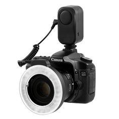 Anillo LED MACRO con 48 altas luces eléctricas LED para lentes Canon / Sony / Nikon / Sigma