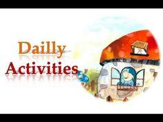 Engels prentenboek voor kleuters op kleuteridee,  Daily activities