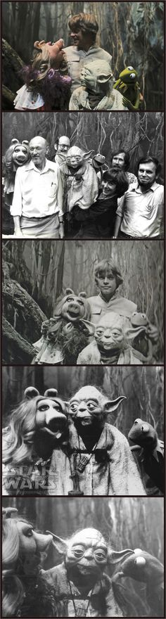 "Kermit the Frog and Miss Piggy's surprise visit to the set of ""The Empire Strikes Back"", 1979"