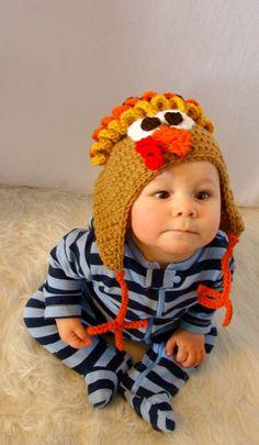 Turkey Hat Crochet Pattern PDF 536. $4.95, via Etsy. So stink' cute!  I may take up crochet!