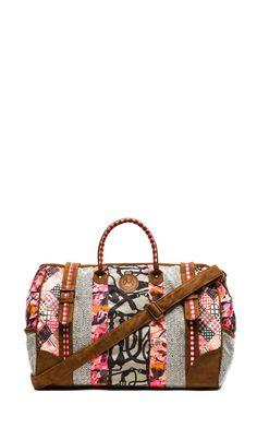 Maaji Weekender Bag in Grey & Pink