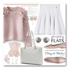 """Pink Granny Flats"" by brendariley-1 ❤ liked on Polyvore featuring mode, Miu Miu, Chicwish, Kenzo, Chanel, Christian Van Sant, Bling Jewelry, women's clothing, women's fashion et women"