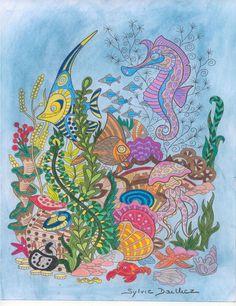 Auteur: Sylvie Dailliez - Revue: Coloriage Évasion n°13 - Éditions MEGASTAR® France. Colorful, France, Artwork, Coloring Pages, Animaux, Work Of Art, French