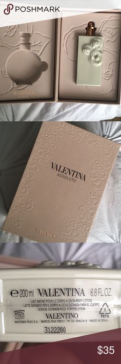 Valentina Assoluto  body lotion Brand new- never used, came  in a set w/ perfume. Only the body lotion is available. Valentino Other
