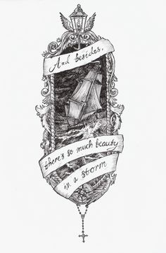 Ink drawing by Dillon Samuelson. Words are from the song Fall Down, Never Get Back Up Again by La Dispute.