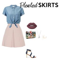 """Untitled #167"" by khadijaer on Polyvore featuring Alexander McQueen, Miss Selfridge, Sole Society, Lime Crime and pleatedskirts"