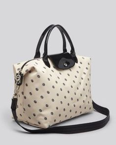 Longchamp 3D Leather Tote Bag, Nude by Longchamp at Neiman Marcus. | Hand  bags - love | Pinterest | Longchamp, Leather totes and Tote bag