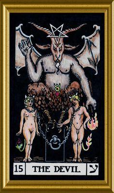 Devil Tarot Poster Size x Baphomet satanic Halloween art Evil Devil 666 Satan Tarot Rider Waite, Tarot Waite, Tarot Significado, La Danse Macabre, Tarot Major Arcana, Templer, Tarot Card Meanings, Baphomet, Tarot Readers