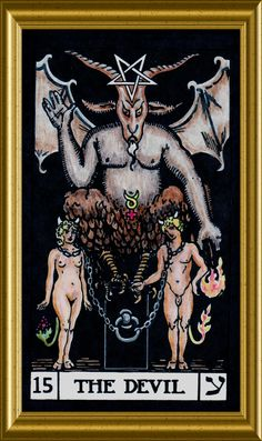 Devil Tarot Poster Size x Baphomet satanic Halloween art Evil Devil 666 Satan Tarot Rider Waite, Tarot Waite, La Danse Macabre, Tarot Significado, Templer, Tarot Major Arcana, Illuminati, Tarot Card Meanings, Baphomet