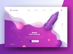 Boost your startup rocket landing page Free Vector Web And App Design, Flat Design, Website Design Inspiration, Graphic Design Inspiration, Adobe Illustrator, Banners, Web Banner, Web Layout, Layout Design