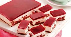 Get into the festive spirit with this luscious double cherry cheesecake jelly slice.