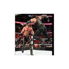 Team Reigns vs. Team Rollins 5-on-5 Traditional Survivor Series... ❤ liked on Polyvore featuring home, home decor, frames and traditional home decor