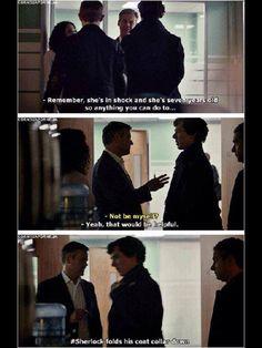 Good job, Sherlock. XD