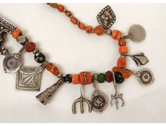Collier Anti Atlas Taroudant Morocco Mughdad silver coral beads amber nineteenth
