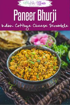 A soft and sizzling North Indian accompaniment, Paneer Bhurji is a worth making dish for a lazy brunch or different dinner. This Punjabi speciality is easy to make , spicy and goes well with any Indian bread. Paneer Recipes, Curry Recipes, Vegetarian Recipes, Cooking Recipes, Healthy Recipes, Quick Recipes, Indian Snacks, Indian Food Recipes, Punjabi Recipes