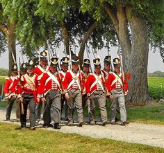 Reenactment of the Battle of Caulk's Field during the War of 1812 in Kent County, MD