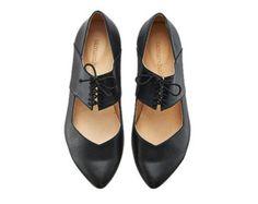 Vicky Black ballerina shoes / handmade leather  flats by Tamar Shalem