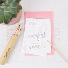 Mother's Day Getting Creative with Patsy Pencil Plant, Faith Box, The Patsy, Creative Box, Beautiful Handwriting, Calligraphy Pens, Bible Journal, Daily Devotional, Something To Do