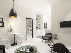 C'est au coeur de Bordeaux que se trouvent ces deux appartements de deux pièces de 40 m² loués par Abritel, et décorés de façon design en noir et blanc. Rien ne vient perturber l'altern…