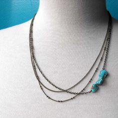 Multi Chain Nacozari Turquoise Necklace