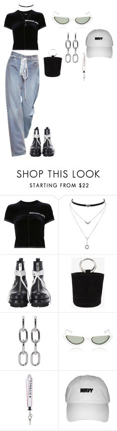 """""""simple"""" by dezzywiththehenny ❤ liked on Polyvore featuring Eckhaus Latta, Jessica Simpson, Alyx, Simon Miller, Alexander Wang, PAWAKA and Givenchy"""