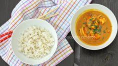 Bocados Caseros: Curry de langostinos con leche de coco y lemongras...