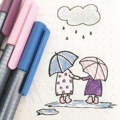 Petite Déco de jour de pluie (inspiration @melissapher ✒ Retrouvez toutes les photos de mon #bulletjournal sur Pinterest ou Instagram @lesoucidudetail