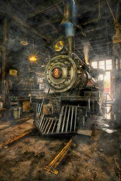 Steam Locomotive by Sven Stork - Photo 48241954 / Motor A Vapor, Train Art, Old Trains, Train Pictures, Train Engines, Steam Engine, Steam Locomotive, Train Tracks, Train Station