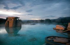 Per Fodor's recommendation...Thermal Waters at Adler Thermae Spa Resort in Tuscany.