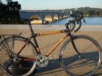 Three Penny Bikes - made in Washington DC with a bamboo frame