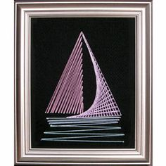 String Art Fun FREE Boat Pattern -  mind you from this site these patterns are for wall pictures - but could easily be adaptible to card making