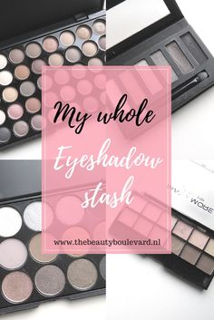 You definitely have to check out this huge eyeshadow stash. This eyeshadow stash contains, pallets for brows, for beginners, everyday and natural makeup. So do you love green, red, colorful, but also natural makeup? Then check out this post!