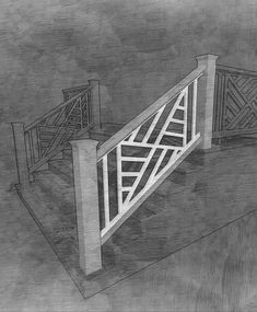 The Chippendale II Stair Panel - The Porch Company Pvc Railing, Front Porch Railings, Railing Design, Screened In Porch, House Staircase, Entry Stairs, Staircase Ideas, Porch Steps, Front Steps