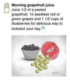Morning grapefruit juice