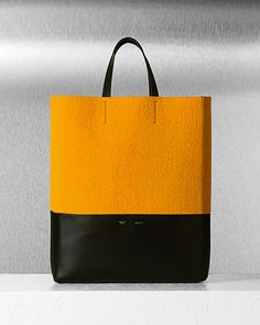 love the splash of color in this celine bi-cabas bag from their 2012 fall collection.