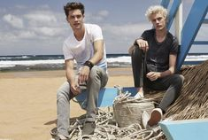 Models Francisco Lachowski and Lucky Blue Smith front Mavi's spring-summer 2016 campaign.