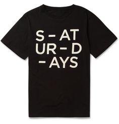 Saturdays Surf NYC Broken Printed Cotton-Jersey T-Shirt   MR PORTER