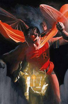 super-nerd:  Batman & Robin by Alex Ross