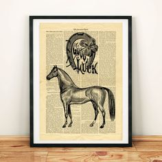 Horseshoe Vintage image Horse Good Luck Printable Collage Old Newspaper Wall Art Print Home Vintage Newspaper, Newspaper Paper, Printable Designs, Printable Crafts, North America Map, West Art, Dictionary Art, Vintage Images, Digital Image