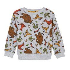 The Gruffalo Boy's grey 'Gruffalo' character printed sweatshirt Gruffalo Characters, The Gruffalo, Printed Sweatshirts, Grey Sweatshirt, Little Man, Christmas Sweaters, Boys, Casual