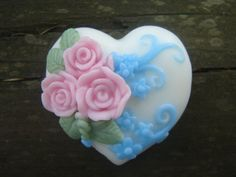 Heart Soap by Bloom Decorative Soaps ♡ Valentine Heart, Valentines, Protein In Beans, Decorative Soaps, Soap Carving, Heart Art, Handmade Soaps, Swirls, Diy Gifts