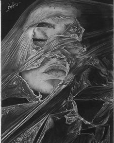 Original Portrait Drawing by Rumesh Chathuranga | Portraiture Art on Paper | The Iron Cage