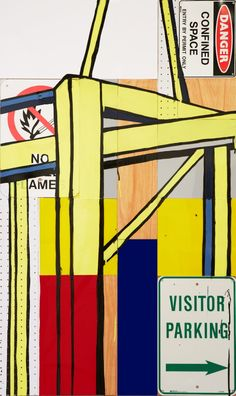 "Archibald Prize Sulman 2013 finalist: The fatal shore by Jasper Knight.Medium: perspex and plywood on board and marine grade enamel paint. This work depicts a working crane in Port Botany Sydney. The title ""the fatal shore"" not only relates to the Robert Hughes book of 1987 but also references the location of this work, Botany Bay, the founding place of European Australia."