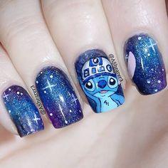 lilo stitch star wars nail art premiere