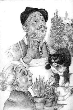 The Talking Cat - My Big Book of Cat Stories - Adrienne Segur illustration