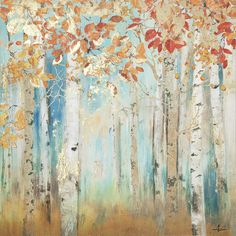 Yosemite Home Decor Birch Beauties II Painting Print on Wrapped Canvas