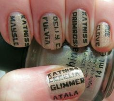 Hunger Games Nails using Fast Track