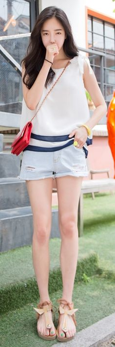 Luxe Asian Korean Women Fashion Motsu Ivory Blouse