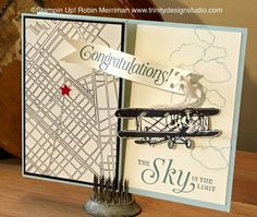 Trinity Designs: The Sky is the Limit - Congratulations Card